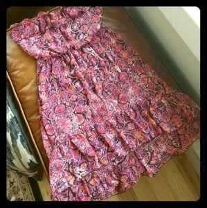 🌺 Delia's Hi-Lo Strapless Flowy summer dress